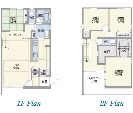 1F Plan 2F Plan