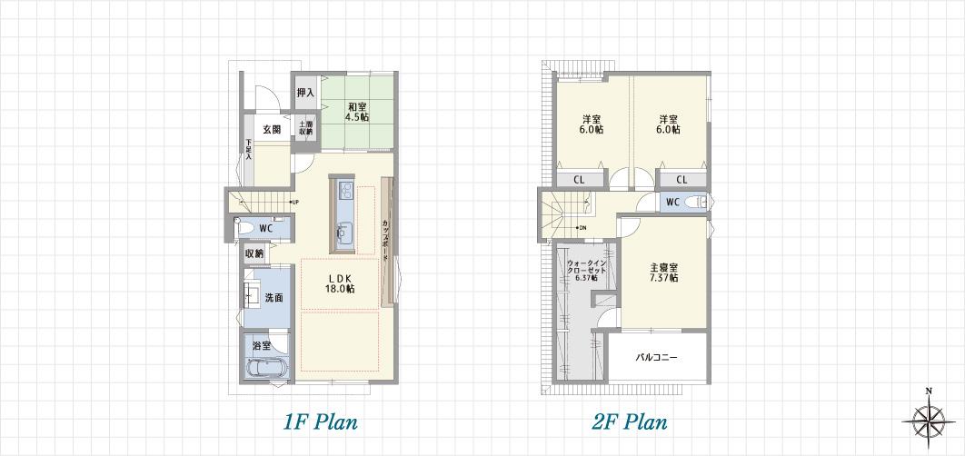 1F Plan 2F Plan PH Plan 北名古屋の家