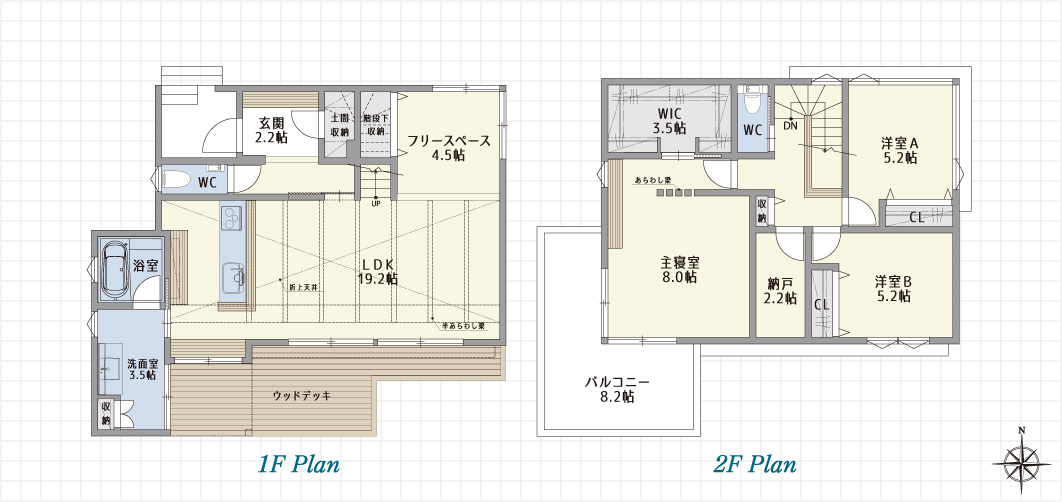 1F Plan 2F Plan PH Plan 千種東明町の家