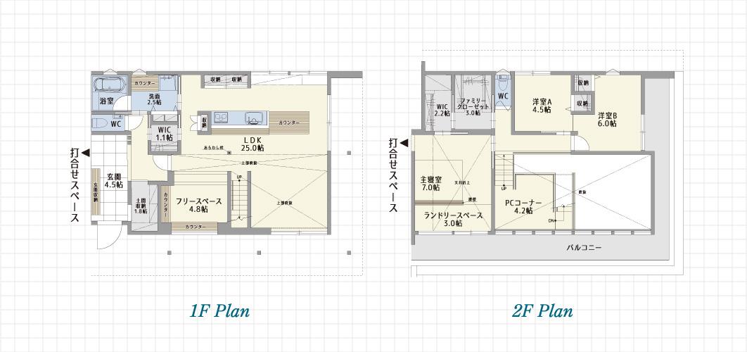 1F Plan 2F Plan 岡崎展示場